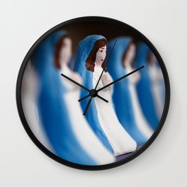 Hand painted figurines Wall Clock