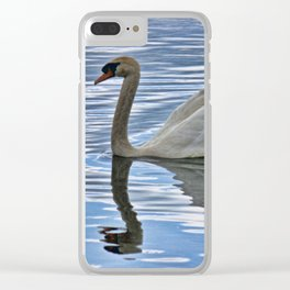 Proud mute swan Clear iPhone Case