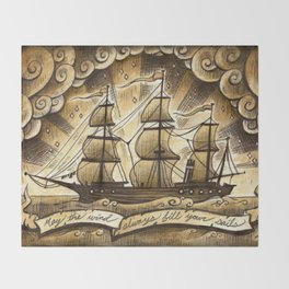 Sailing Winds Throw Blanket