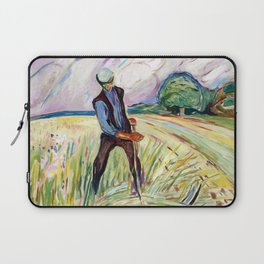 The Haymaker by Edvard Munch Laptop Sleeve