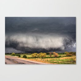 Tornado Day - Storm Touches Down in Northwest Oklahoma Canvas Print