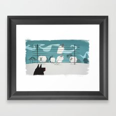 A sheep odyssey Framed Art Print