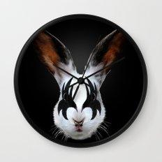 Kiss of a Rabbit Wall Clock