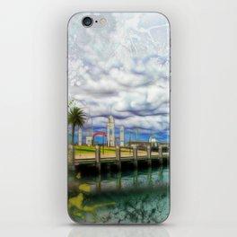 Coastal pier view iPhone Skin