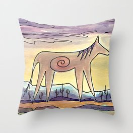 Sacred Mustang Throw Pillow