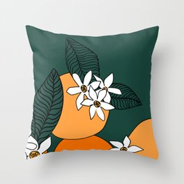 Midnight Citrus No 03 Throw Pillow