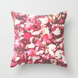 Red Leaves on the Field Throw Pillow