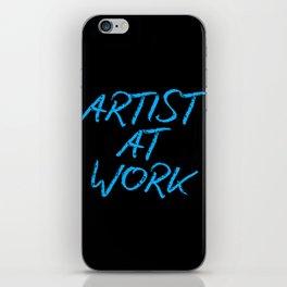 Artist at Work (blue) iPhone Skin