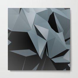 Black Ice Abstraction Metal Print