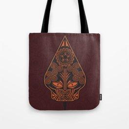 Wayang Red Tote Bag