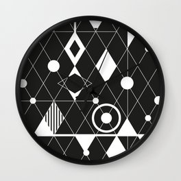 Black and white graphic Wall Clock