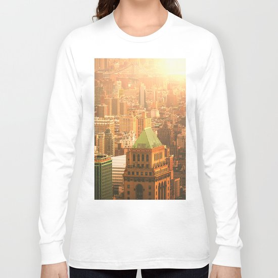 New York City Skyline Rooftops Long Sleeve T-shirt