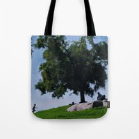 running Tote Bags featuring running by XfantasyArt