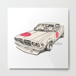 Crazy Car Art 0170 Metal Print