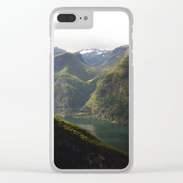 Norway Fjord Clear iPhone Case