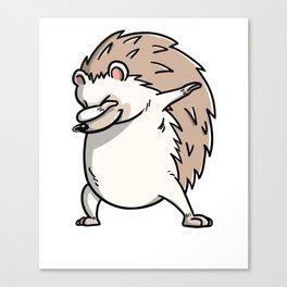 Funny Dabbing Hedgehog Pet Dab Dance Canvas Print