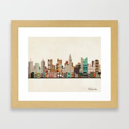 columbus skyline Framed Art Print