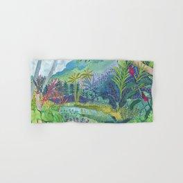 Jungle Paradise Watercolor Hand & Bath Towel