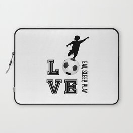 Eat, Sleep, Play  Love Volleyball Laptop Sleeve