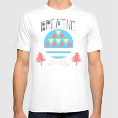 Breathe MEDIUM Mens Fitted Tee White