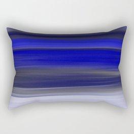 Dark Night Seascape Abstract In Blue Rectangular Pillow
