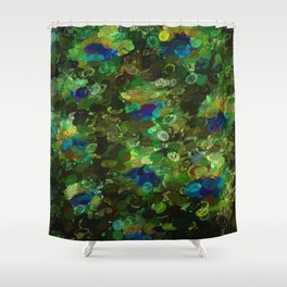 Peacock Gamma Shower Curtain