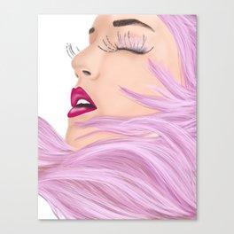She feels like a unicorn Canvas Print
