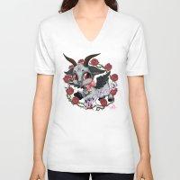 baphomet V-neck T-shirts featuring Baphomet Cutie by Artetak