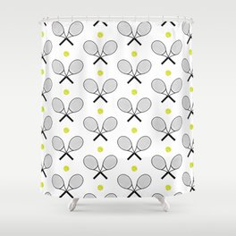 Tennis Pattern 2 Shower Curtain
