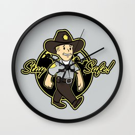 Stay Safe! Wall Clock
