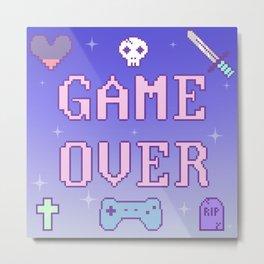 Game Over (pastel) Metal Print