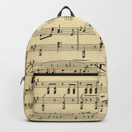Antique Sheet Music Backpack