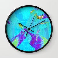 fringe Wall Clocks featuring Fringe Benefits by Neelie