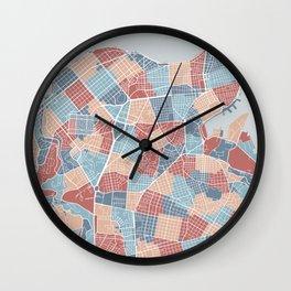 Havana map, Cuba Wall Clock