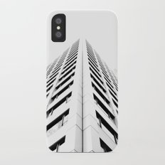 Keep Your Aim High (White Symmetry) iPhone X Slim Case