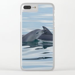 Baby Bottlenose Dolphin Clear iPhone Case