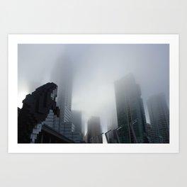 Digital Orca Amidst The Fog Art Print