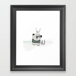 Mini bear&rabbit Framed Art Print