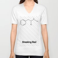 breaking V-neck T-shirts featuring Breaking Bad by Karolis Butenas