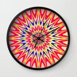 Sunshine Colorful Rainbow Spectrum Wall Clock