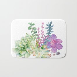 Succulents Bath Mat
