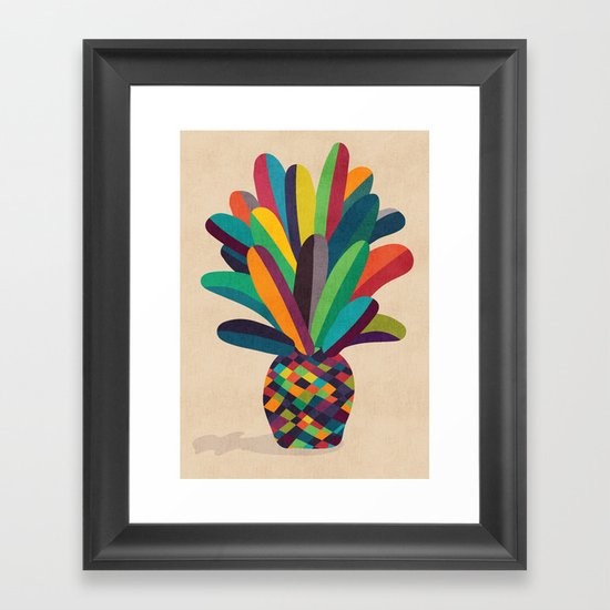 Flower Pot Framed Art Print
