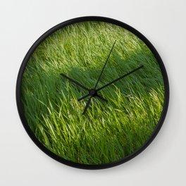 Waves of Grass Wall Clock