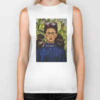 frida Biker Tanks featuring FRIDA by NOXBIL