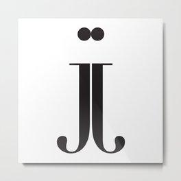 "Mirrored - The Didot ""j"" Project Metal Print"