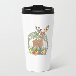 Deer in the forest. Travel Mug
