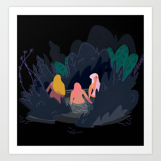 Night Pond Art Print