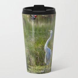 A Disagreement at the Pond Travel Mug