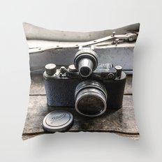 The Old Leica Throw Pillow