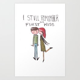 I still remember our first kiss Art Print